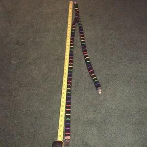 Rainbow mustache suspenders
